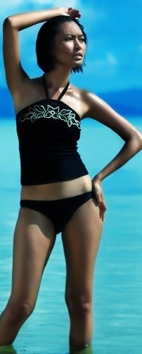 halter tankini swimsuits black and white