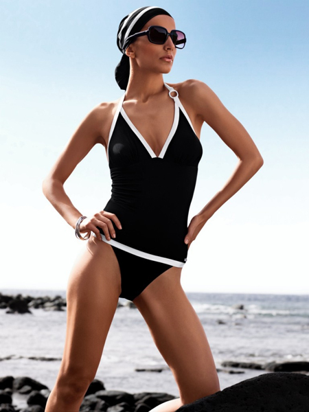black tankini-Swimwear