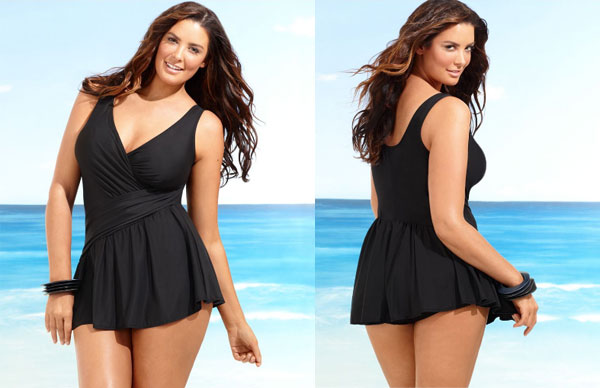 Sexy plus size swimdress