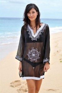 embroidered tunic beach coverup